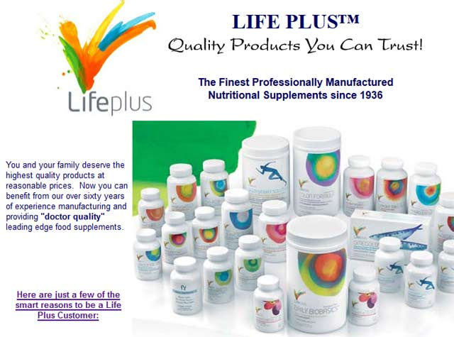 Life Plus Vitamins Products