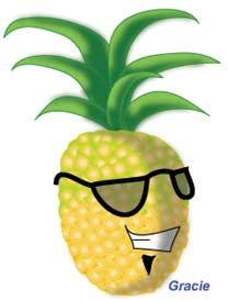 image pineapple fruit nutrition has enzyme bromelain Vitamin C beta carotene from vitamin A