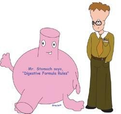 digestive formula enzymes improve digestion pepsin, papain, and bromelain, acidophilus