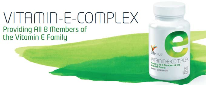 Life Plus Vitamin E Complex Antioxidants d-alpha, d-delta and d-gamma Tocopherols